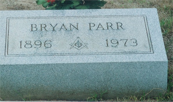 Bryan Parr's headstone