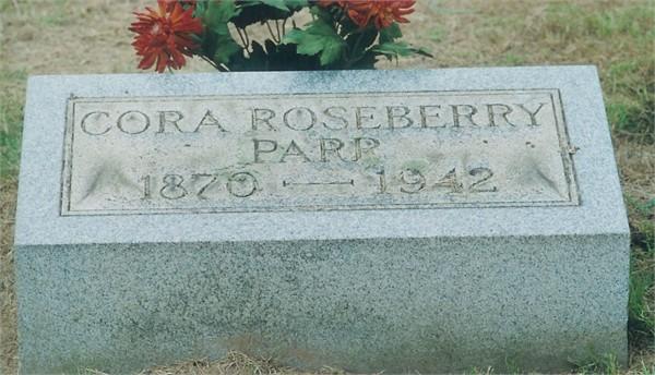 Cora (Roseberry) Parr headstone