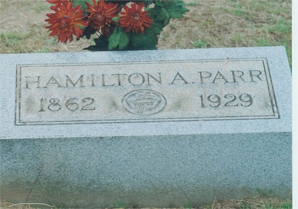 Hamilton A. Parr's headstone