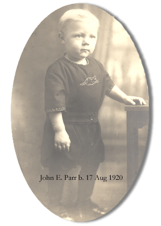baby photo of John E. Parr born 17 August 1920