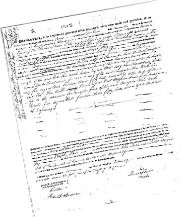 Joseph Parr's deed to land in Cavan Township in 1831
