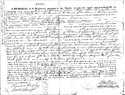 Joseph Parr's sale of same land in 1833