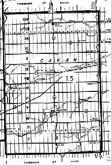 map of Cavan Township, Ontario
