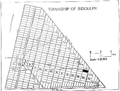 map of the Township of Biddulph, Ontario